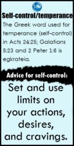 graphic for the self-control bible study