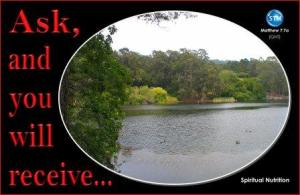 Picture of lake for the spiritual nutrition page