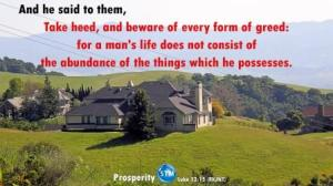 Picture of large home for the prosperity bible study Luke 12:15