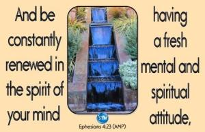 Picture of waterfall for the spiritual attitude bs Ephesians 4:23