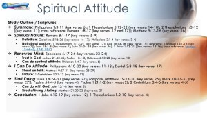 graphic outline for spiritual attitude