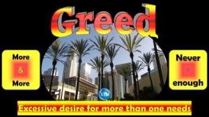 Picture of downtown Los Angeles for the greed bible study