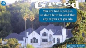 Picture of a large home for the greed bible study Ephesians 5:3