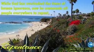 Picture of a beach for the repentance bible study Acts 17:30