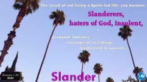 Picture of for the slander bible study Romans 1:30