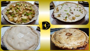 picture of diabetic apple pie - apple cobbler stages