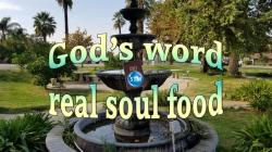 Picture of a fountain for the gods word bible lesson