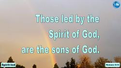 Picture of a rainbow for the spirit-led bible lesson Romans 8:14