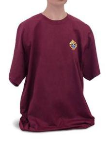 Maroon Tee shirt with emblem