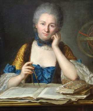 Madame Du Châtelet at her desk, detail | By Maurice Quentin de La Tour | 18th Century | Courtesy of Wikimedia Commons
