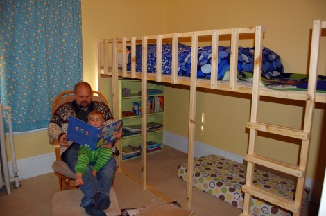 Griffin's brand new loft bed!