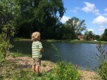 Duck pond at St. Kate's