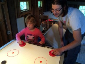 Air hockey with Ben
