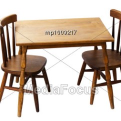 Vintage Table And Chairs Restoration Hardware Madeline Chair Stock Photo Wood Set Children Image Mp1009217 Royalty Free For