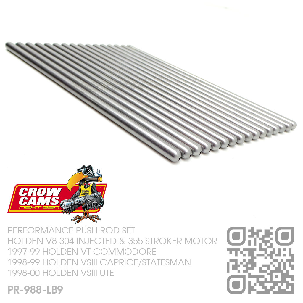 CROW CAMS SUPERDUTY PUSHRODS V8 INJECTED 304 & 355 ROLLER