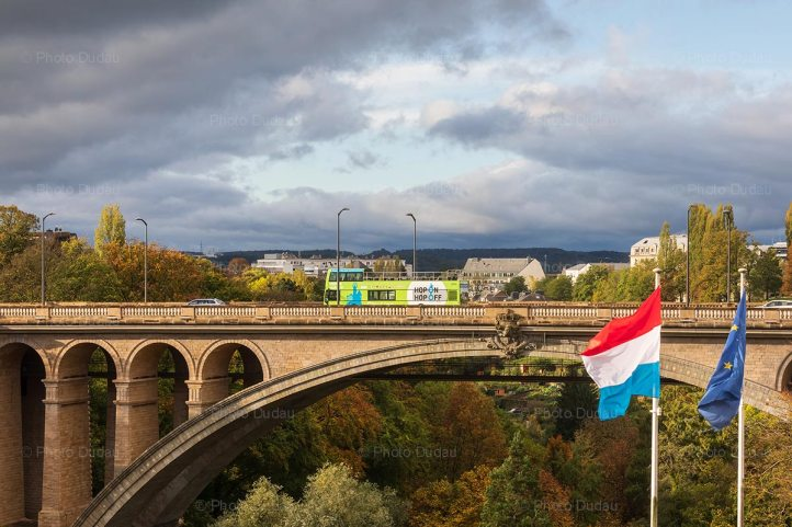 Touristic sightseeing bus in Luxembourg