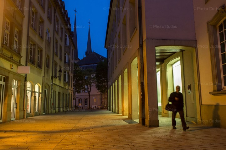 downtown luxembourg city street