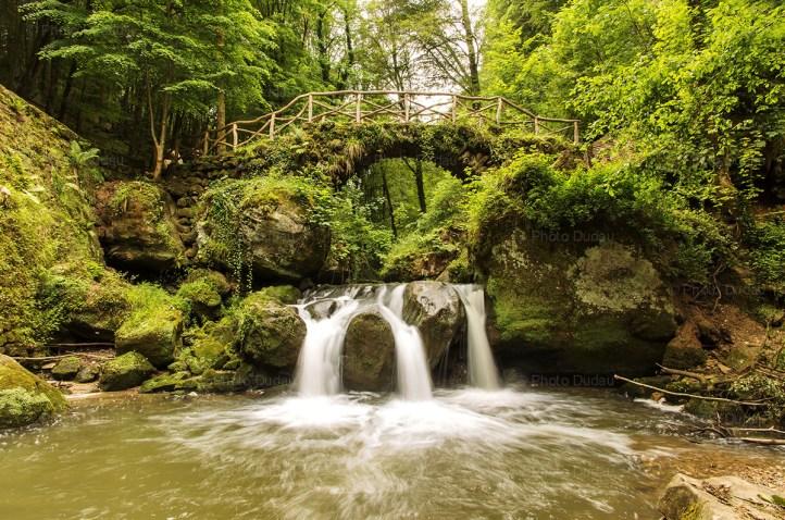 Schiessentümpel waterfall in The Little Switzerland, Luxembourg.