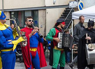 Fanfare des Super Héros performing at Ettelbrooklyn Street Fest