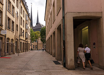 street in central Luxembourg city