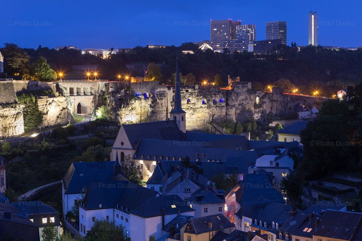 Luxembourg city night view