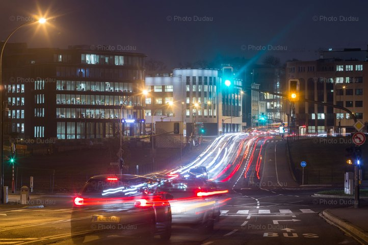 Luxembourg night traffic on Route Arlon