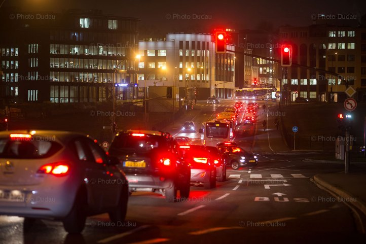 Luxembourg night traffic