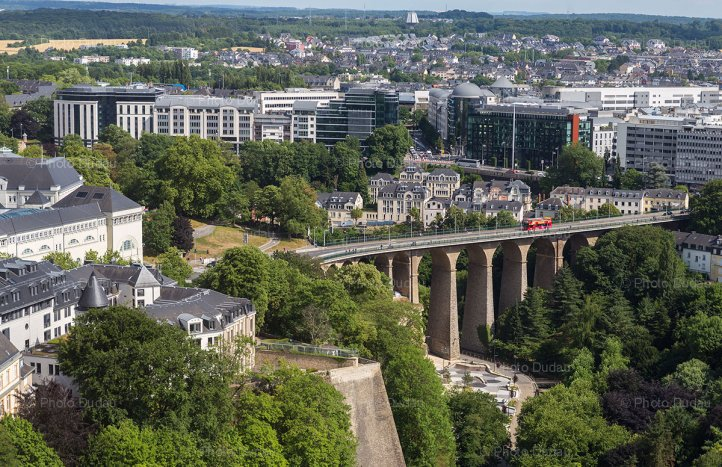 Luxembourg aerial view over Petrusse Valley