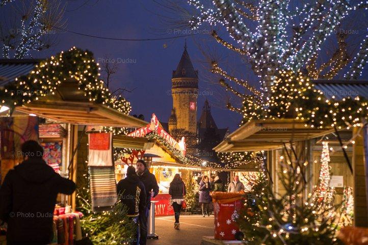 luxembourg christmas market stock photo