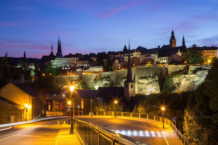 night lights in Luxembourg city
