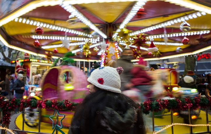 carousel at Luxembourg Christmas Market