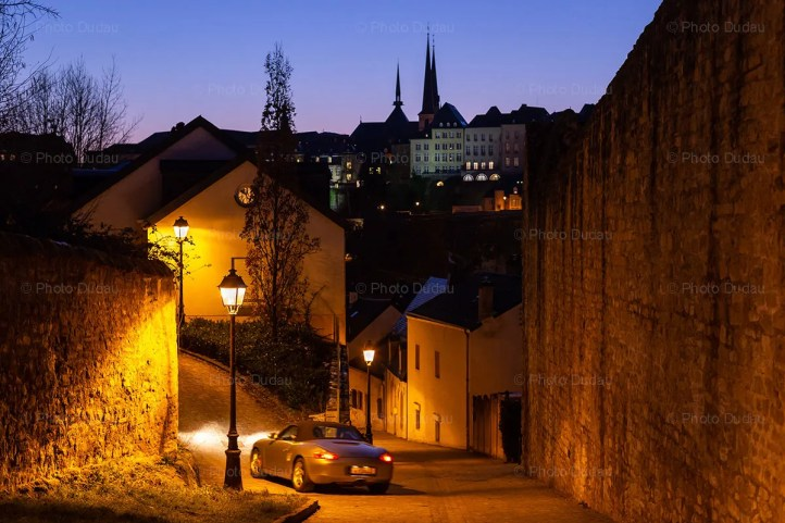 Luxembourg old town at night