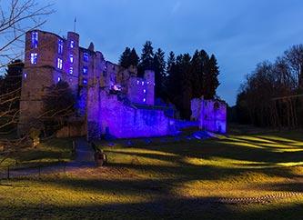 beaufort castle lights night