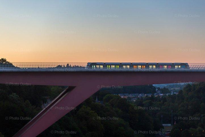 Tram on Red Bridge