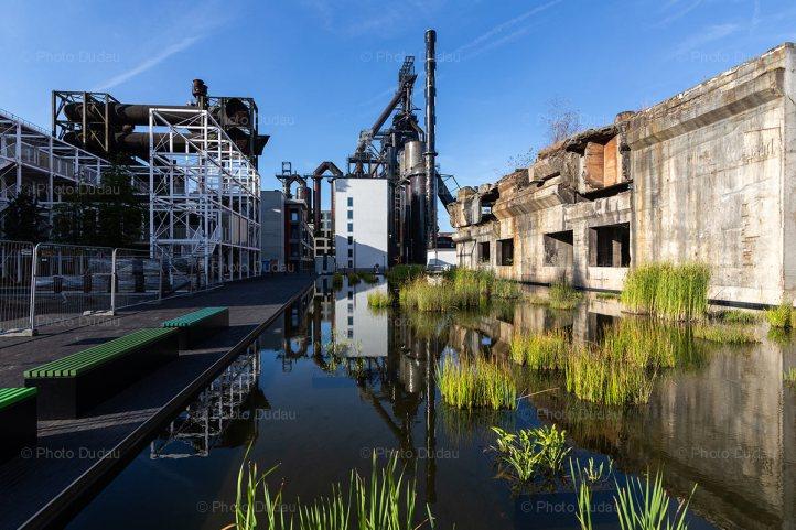 Industrial blast furnace in Belval Esch-sur-Alzette