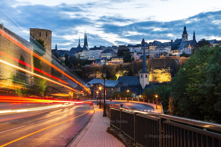 Luxembourg City night cityscape
