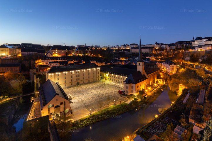 Luxembourg Grund at night