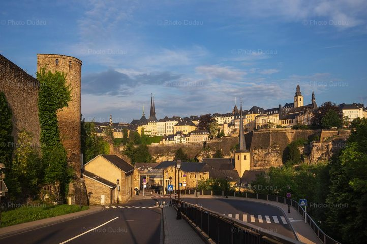 Luxembourg city old town cityscape