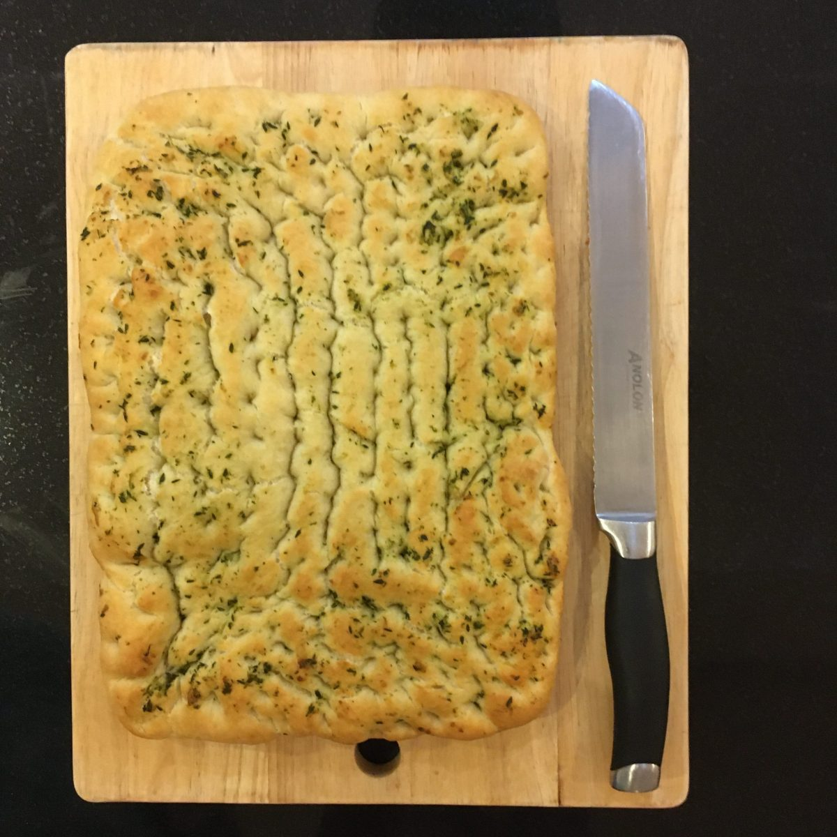 Garlic and rosemary focaccia
