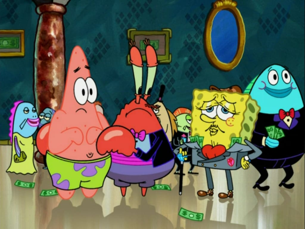 spongebob money