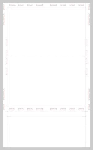 Legal Pressure seal eccentric z fold blank white form