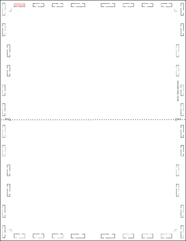 Letter V fold white pressure seal form