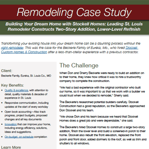 St. Louis Remodeling Case Study