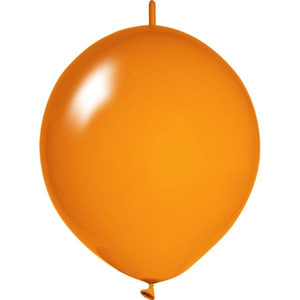 orange Girlanden Luftballons bedrucken
