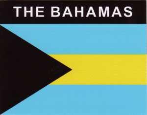Aufkleber Bahamas, Länderaufkleber, Nationalflagge, Autoaufkleber