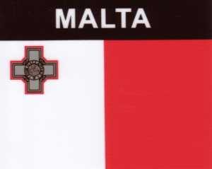 Aufkleber Malta, Länderaufkleber, Nationalflagge, Autoaufkleber