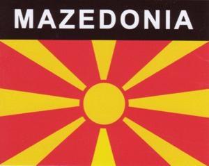 Aufkleber Mazedonien, Länderaufkleber, Nationalflagge, Autoaufkleber