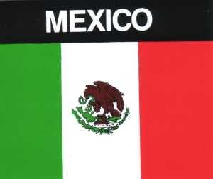 Aufkleber Mexiko Flagge