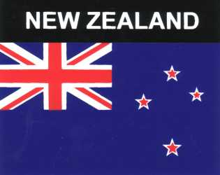 Aufkleber Neuseeland, Länderaufkleber, Nationalflagge, Autoaufkleber