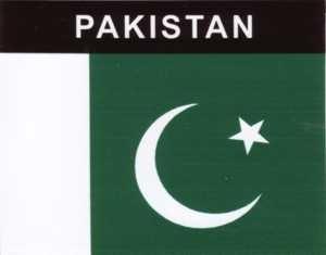Aufkleber Pakistan, Länderaufkleber, Nationalflagge, Autoaufkleber